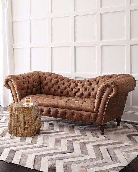 recamiere sofa oak leather recamier sofa