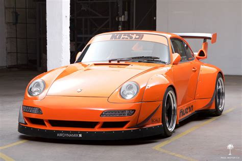 widebody cars crazy widebody corvette powered 1995 porsche 911 hits ebay