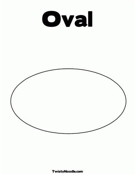 template for oval shape printable oval shape coloring home