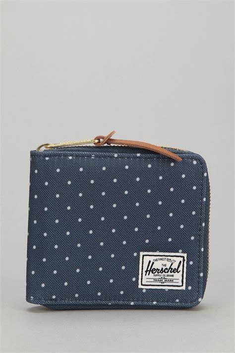 Samilon Polkadot Wallet herschel supply co walt fullzip polka dot wallet in blue