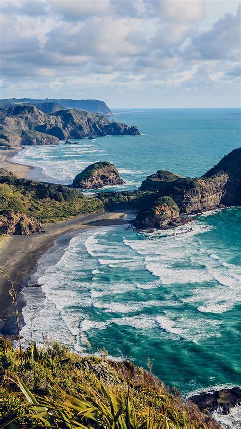 mn sea ocean view water  zealand nature papersco