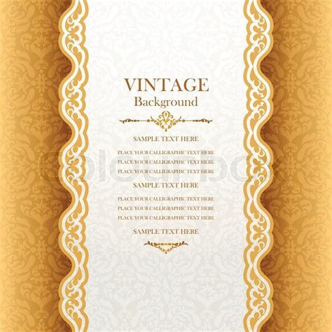 Vintage Style Photo Cards Template by Vintage Background Antique Greeting Card Invitation With