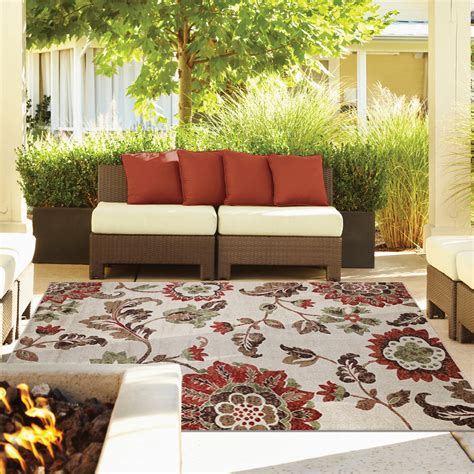 Thomasville Indoor Outdoor Rugs Thomasville Veranda Collection Indoor Outdoor 7 5 Quot X10 Rug Kiana Shell Ebay