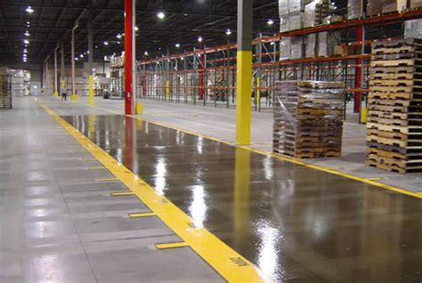 Warehouse Floor by Striping Numbering Warehouse Floor