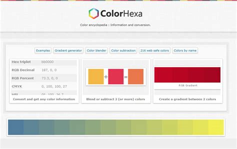 color hexa 10 best color pallet generators designbeep