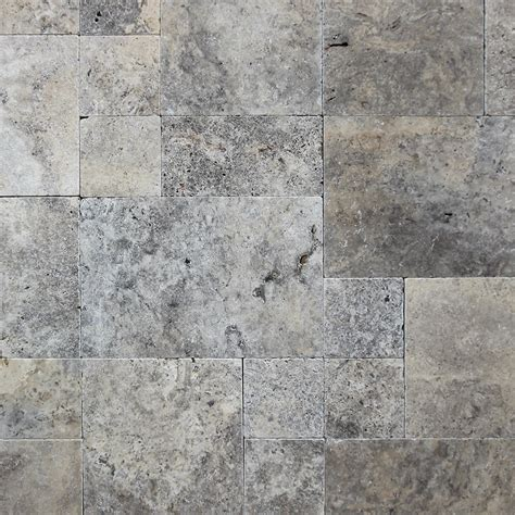 french pattern travertine tiles only 75 m2 tumbled silver french pattern travertine paver