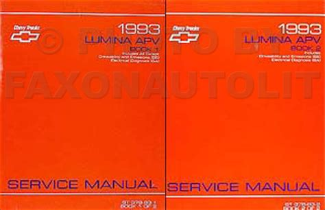 online car repair manuals free 1993 chevrolet lumina apv instrument cluster 1993 chevy lumina apv minivan repair shop manual original 2 vol set