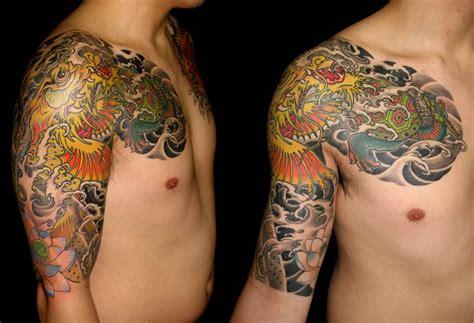 japanese tattoo lotus sleeve image gallery lotus tattoos japanese dragon