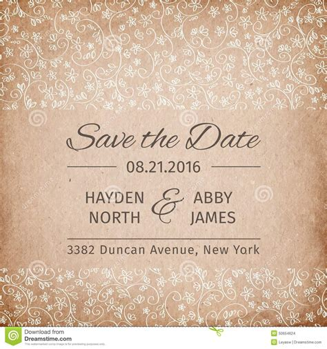 wedding invitation save the date template save the date wedding invitation template vintage paper