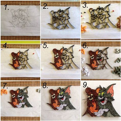 tutorial quilling art 85 best quilling cartoons images on pinterest