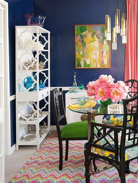 Decorating With Bold Colors House Tours Get The Look Bold Dining Room Colors