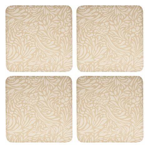Denby Monsoon Lucille Gold Coasters: Buy Denby Monsoon