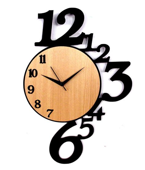 Home Decoratives by Panache Wooden Number Wall Clock Buy Panache Wooden