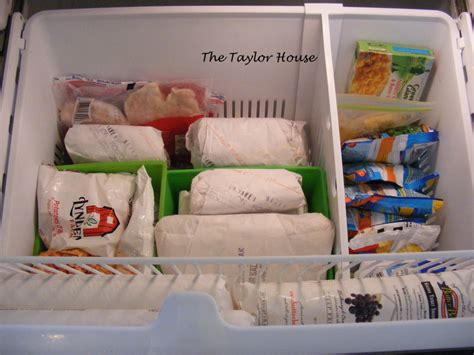 how to organize a bottom drawer freezer