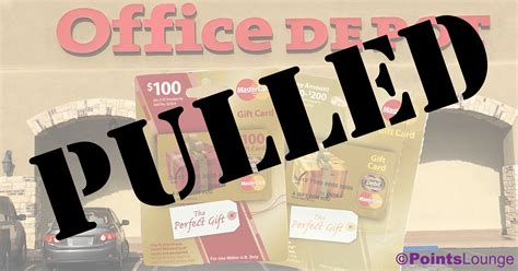 pulled office depot gift card sale canceled pointslounge - Officemax Gift Card Sale