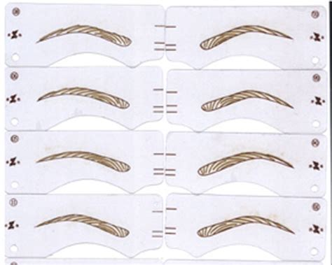 eyebrow shaping template printable eyebrow stencils