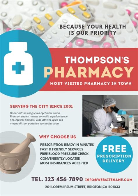 pharmacy flyer template postermywall