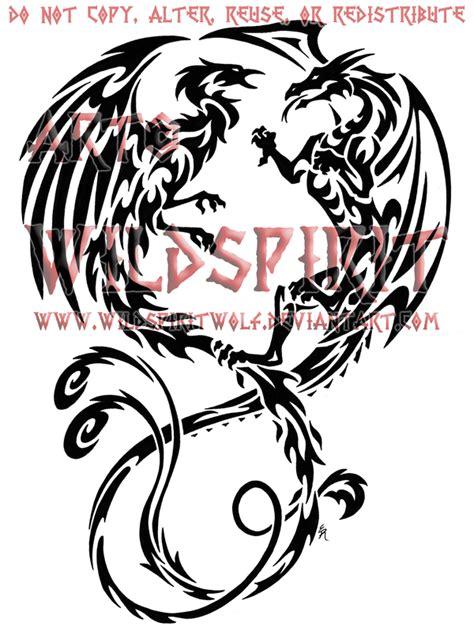 phoenix tattoo we heart it tribal dragon phoenix heart tattoo design real photo