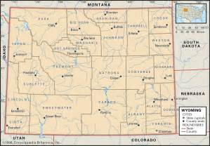 wyoming colorado map state and county maps of wyoming