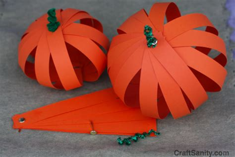 How To Make A Pumpkin Out Of Paper - craftsanity on tv thanksgiving crafts craftsanity a