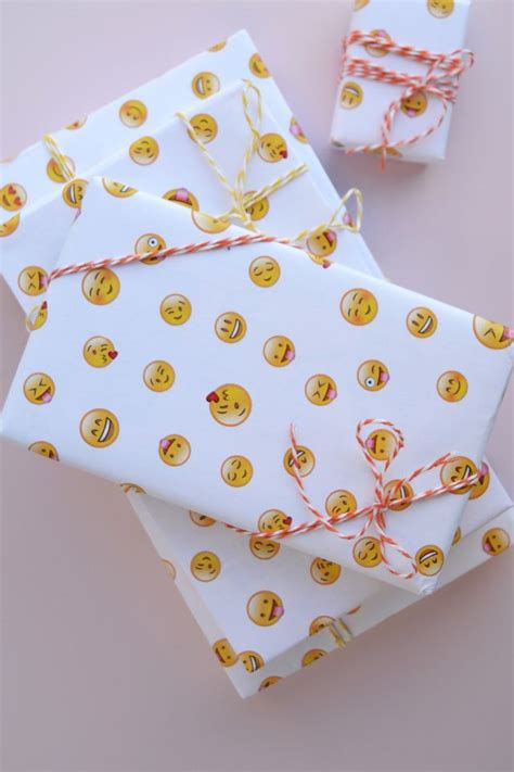 diy printable wrapping paper diy gift wrapping ideas free printable emoji wrapping