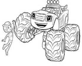 blaze coloring blaze and the machines coloring pages pictures to