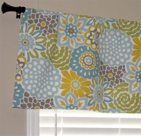 Light Teal Valance Waverly Buttons And Blooms Spa Valance 50 Wide X