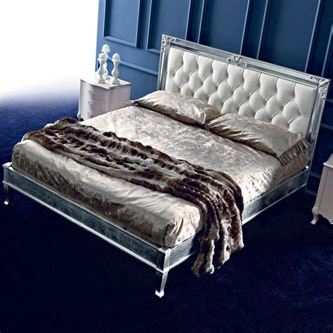 leather upholstered bed leather button upholstered silver leaf bed juliettes