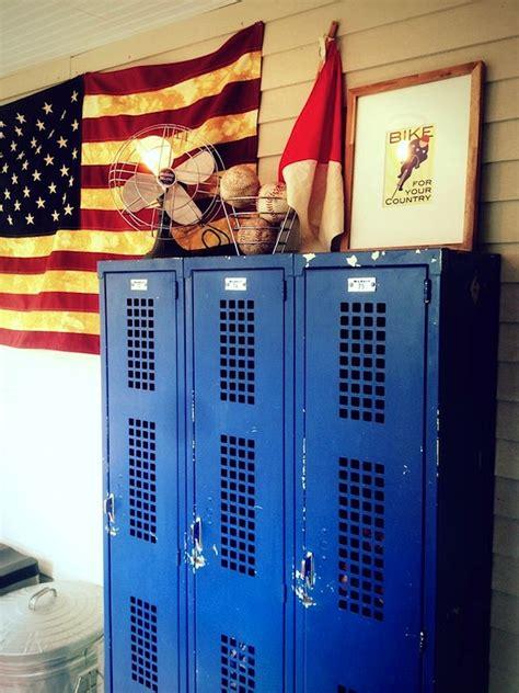ways to use metal lockers in kids rooms storage
