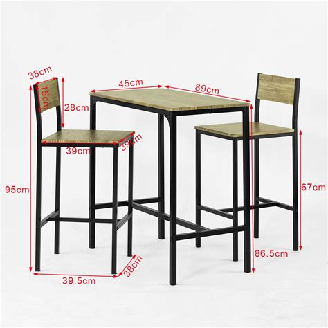 kitchen table and stools sobuy 174 bar table and 2 stools restaurant kitchen furniture