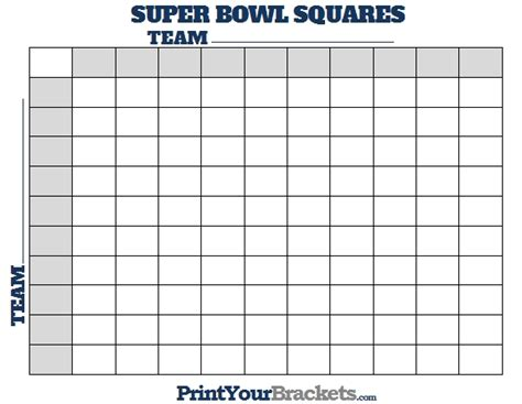 printable superbowl squares world of menu and chart