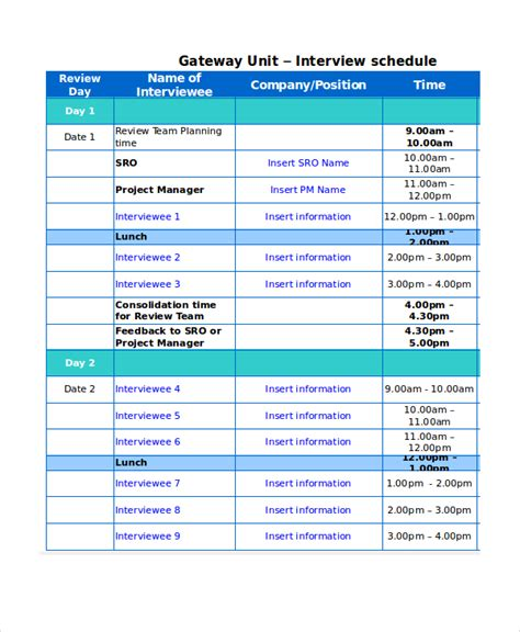 Schedule Format Excel Dolap Magnetband Co Band Schedule Template