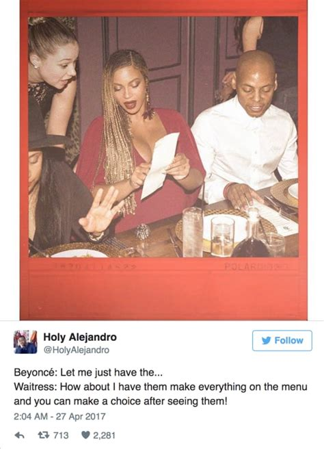 anything for you beyonce beyonce ordering food is the meme we need the