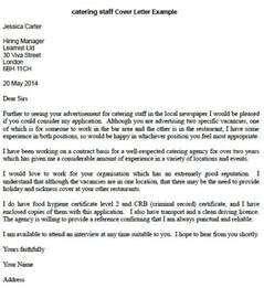 Application Letter For Kitchen Staff Catering Staff Cover Letter Example Learnist Org
