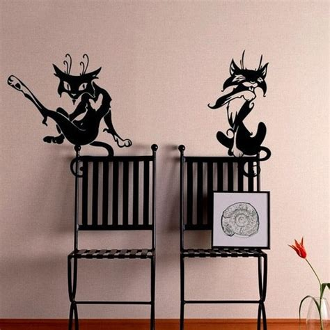 tattoo home decor cartoon cats tattoo vinyl wall decals home decor tribal