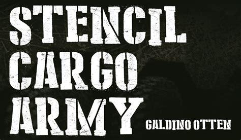 dafont military stencil cargo army font dafont com free font fun