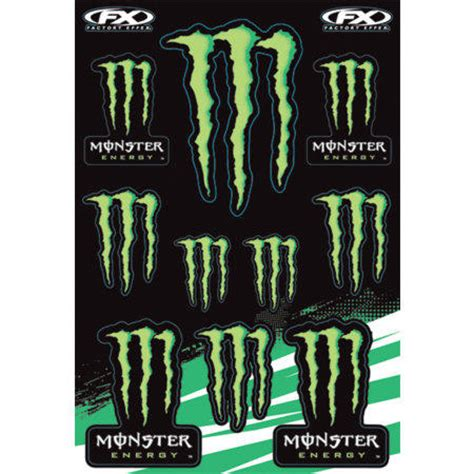 Monster Energy Aufkleber Gratis Bestellen by Planche D Autocollants Factory Effex Monster Energy Fx12