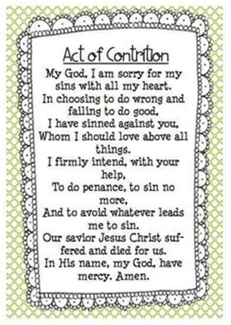 Act Of Contrition Worksheet by Printables For Fruit Of The Spirit Devotional Coloring