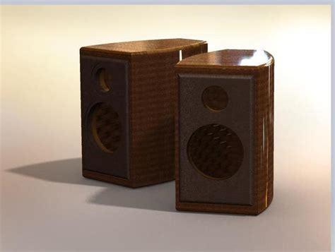 bookshelf speaker box stl step iges solidworks 3d
