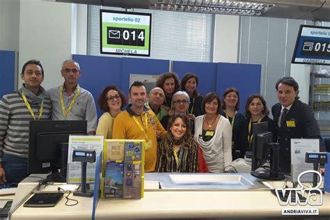 poste uffici postali poste italiane premia l ufficio postale andria centro