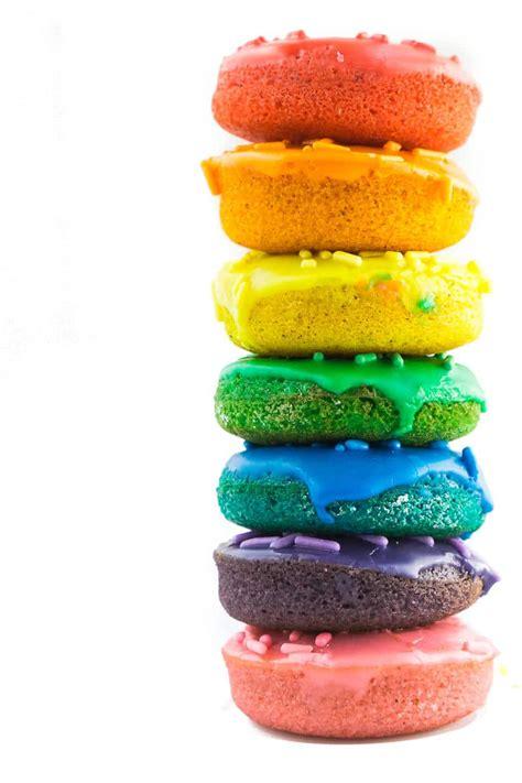 Rainbow Donut a rainbow colored baked donut recipe how to make rainbow