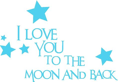 i love you to the moon and back art nursery wall quotes baby quotes i love you to the moon