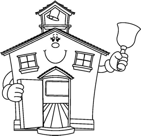 School Clipart Black And White Free schoolhouse bw free images at clker vector clip