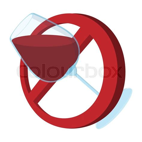 cartoon no alcohol no alcohol sign cartoon icon on a white background stock