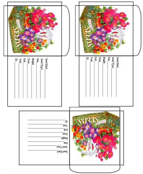 printable miniature flowers printable box templates over at dave s garden there s a