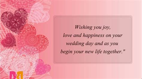 Wedding Wishes For And In by Wedding Wishes Messages And Quotes Congratulations