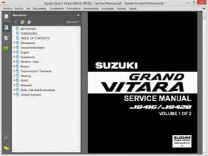 Suzuki Vitara Workshop Manual Free Suzuki Grand Vitara 2005 2007 Workshop Repair