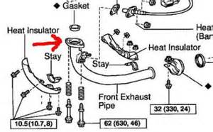 1999 Toyota Corolla Exhaust System Diagram Possible Exhaust Leak On Front Pipe Above Heat Insulator
