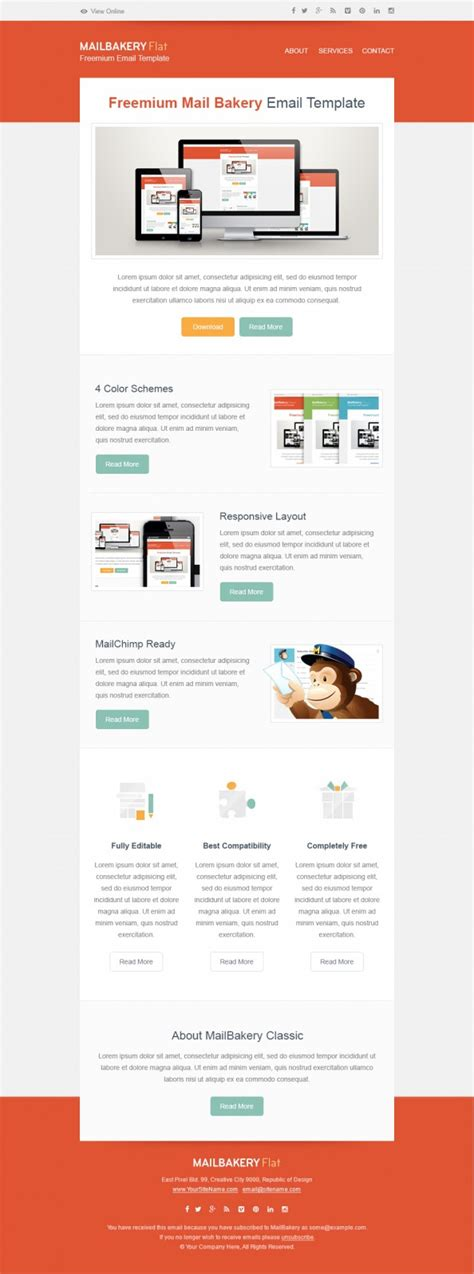 Free Html Email Template Free Convertkit Email Template