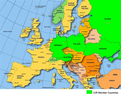 map of europe and surrounding countries political map of europe countries in nanopics